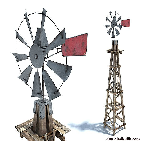 Low Poly Wild West Wind Mill