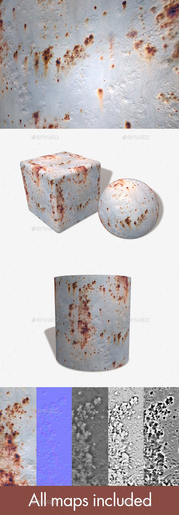 Rusty Painted Metal Seamless Texture - 3DOcean Item for Sale