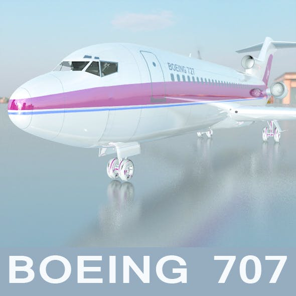 Airplane boeing 727 - 3DOcean Item for Sale