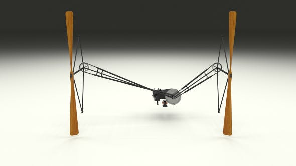 Wright Flyer Propulsion Animated - 3DOcean Item for Sale