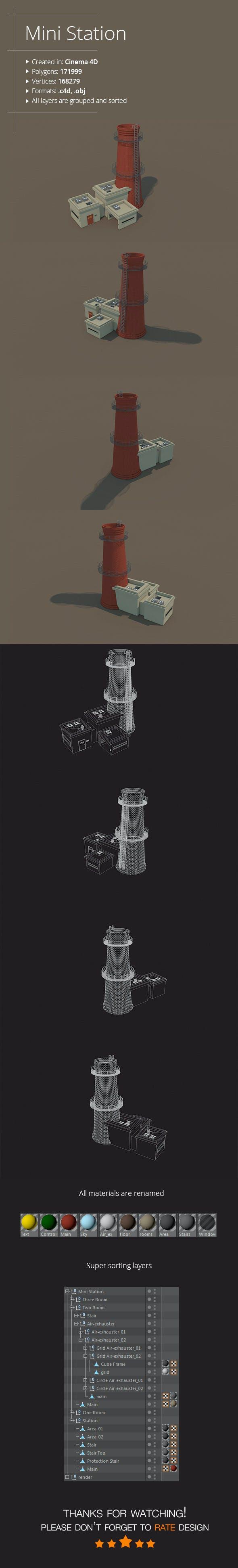 Mini Station - 3DOcean Item for Sale