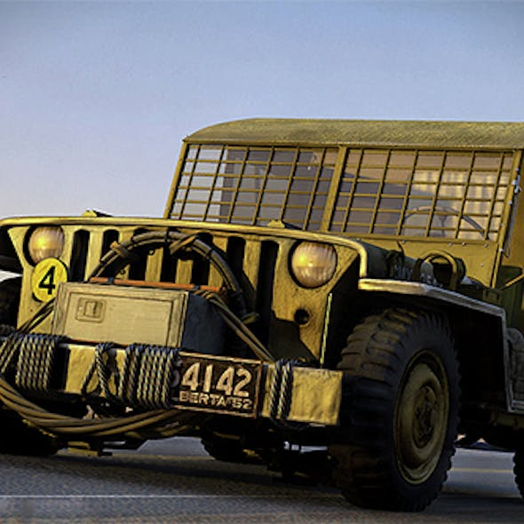Military Army Jeep