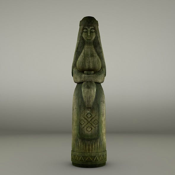 Women wooden totem - 3DOcean Item for Sale