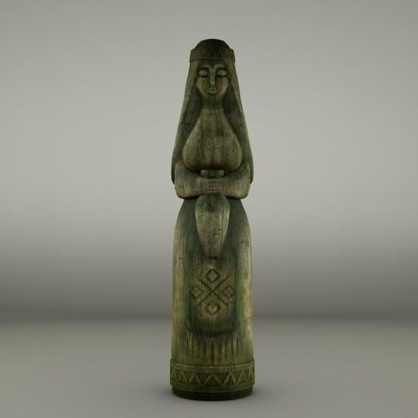 Women wooden totem