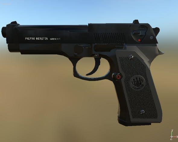 Beretta 92 - 3DOcean Item for Sale