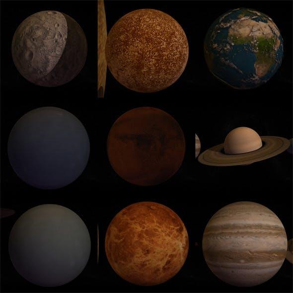 10 Pieces Planet - 3DOcean Item for Sale