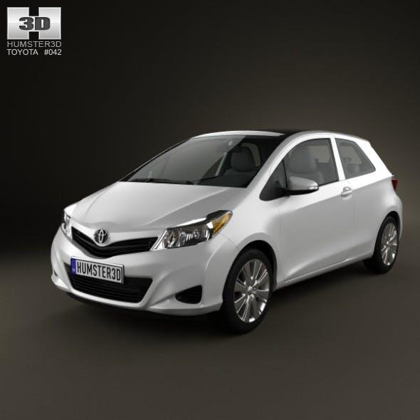 Toyota Yaris 3-door 2012 - 3DOcean Item for Sale