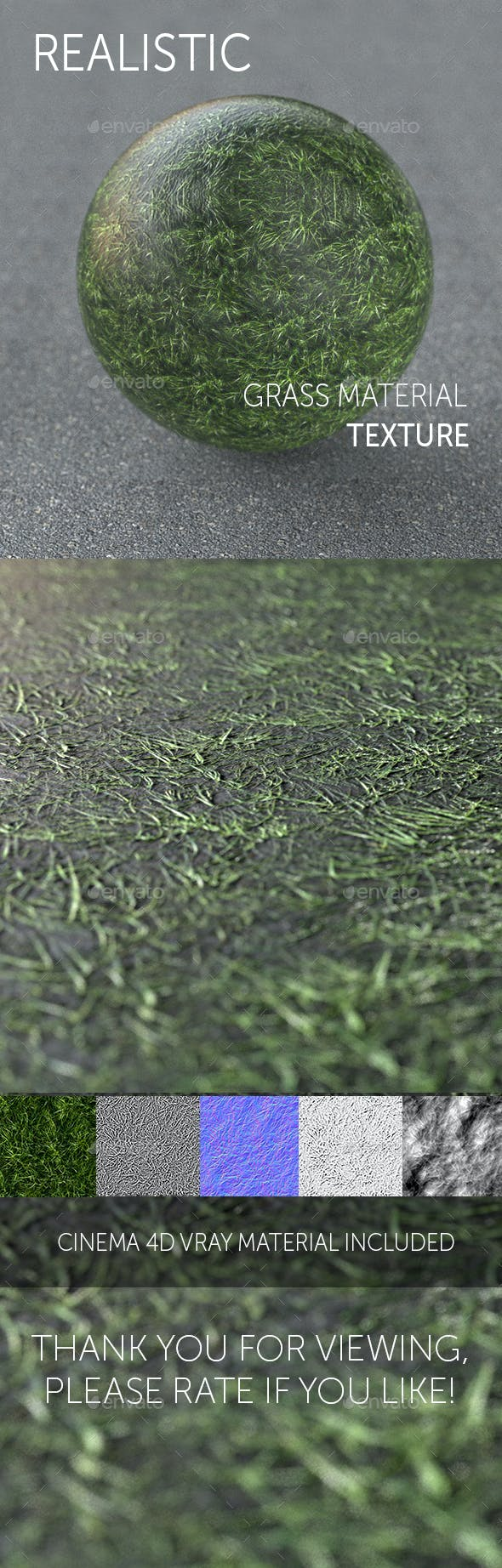 Grass realistic texture - 3DOcean Item for Sale
