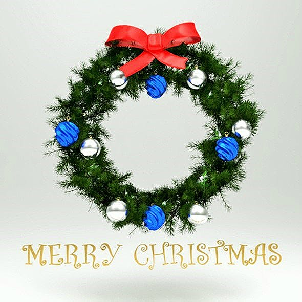 Christmas 3D Wreath