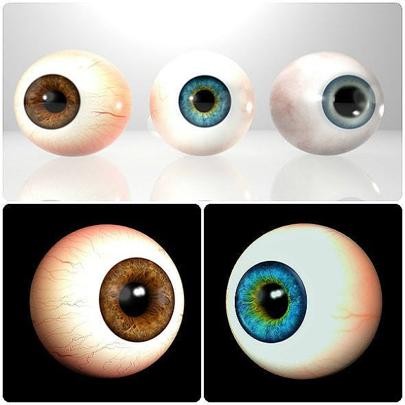 3D Realistic Eyes Collection