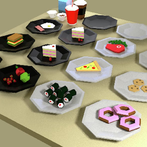 Fast-food Low Poly Pack