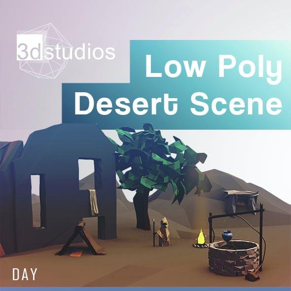 Low Poly Desert Scene
