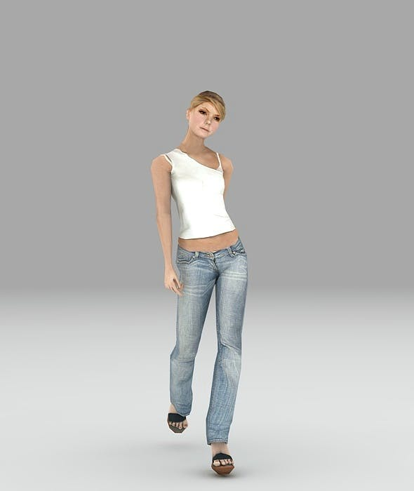 low poly wom walk - 3DOcean Item for Sale