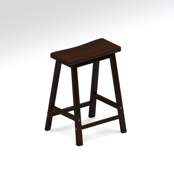 High wooden stool - 3DOcean Item for Sale