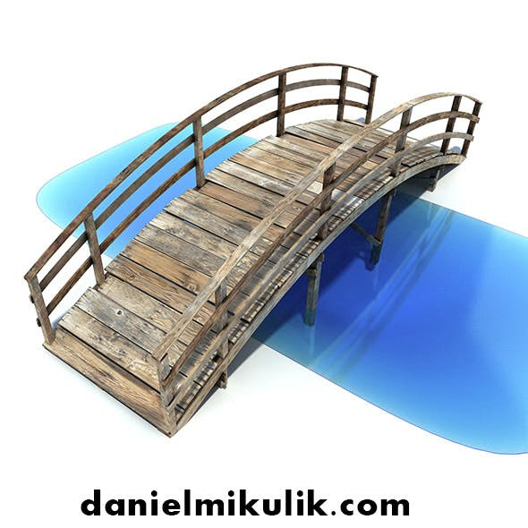 Low Poly Old Wooden Bridge - 3DOcean Item for Sale