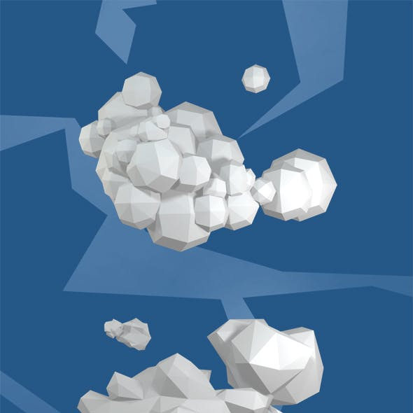 Low Poly Clouds Pack(Discount)