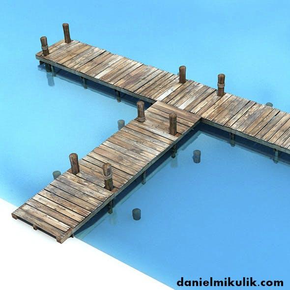Old Wooden Bridge Low Poly