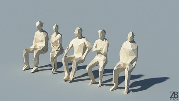 Lowpoly People - 3DOcean Item for Sale