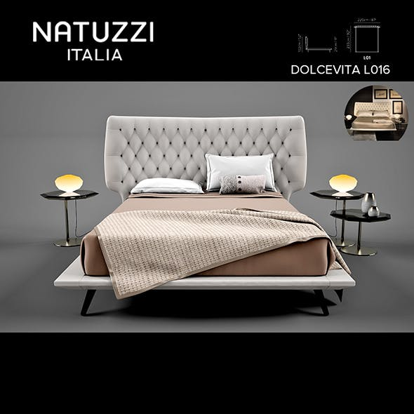 Natuzzi Dolcevita L01 Bed - 3DOcean Item for Sale