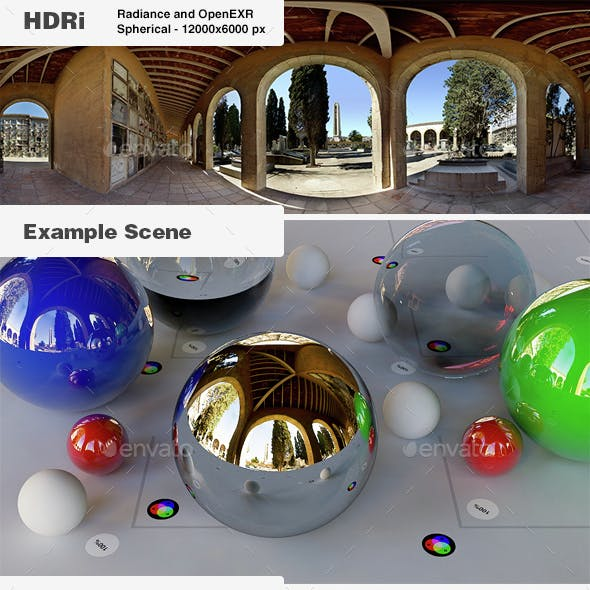 HDRi 004 - Exterior - Under the dome + Backplates