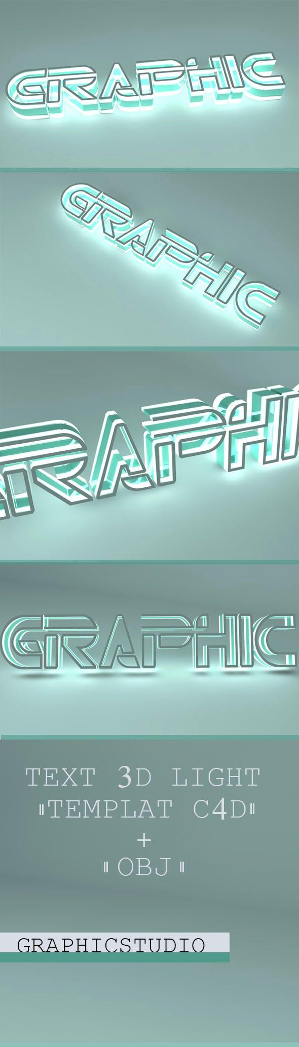Text 3d Light - 3DOcean Item for Sale