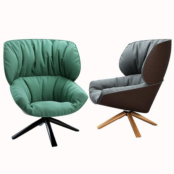 B&B ITALIA Tabano armchair - 3DOcean Item for Sale