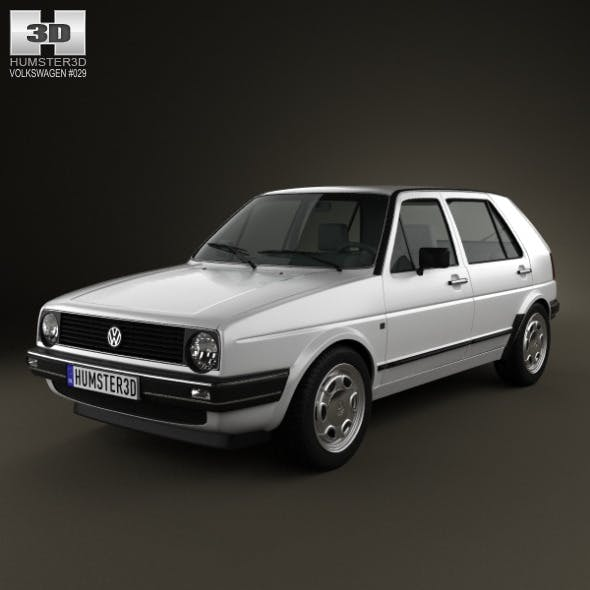 Volkswagen Golf Mk2 5-door 1983 - 3DOcean Item for Sale