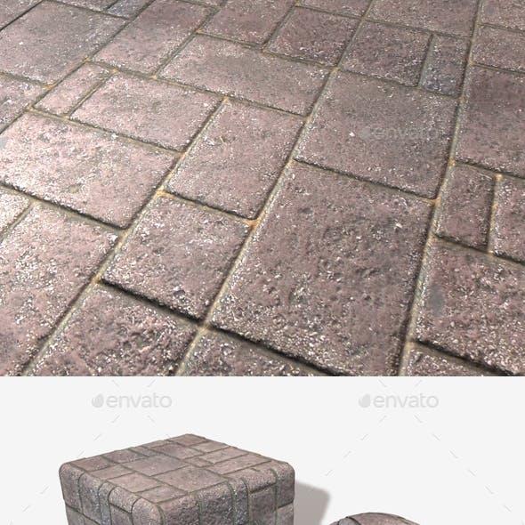 Ground Brick Pattern Seamless Texture