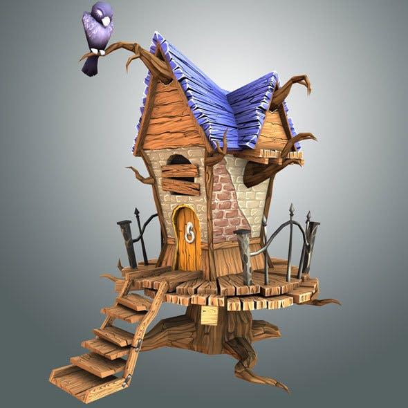 Low Poly Creepy House
