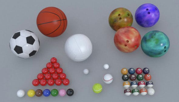 Ball Sports Pack - 3DOcean Item for Sale