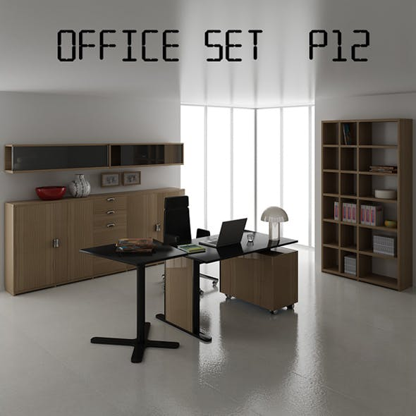 Office set p12 - 3DOcean Item for Sale