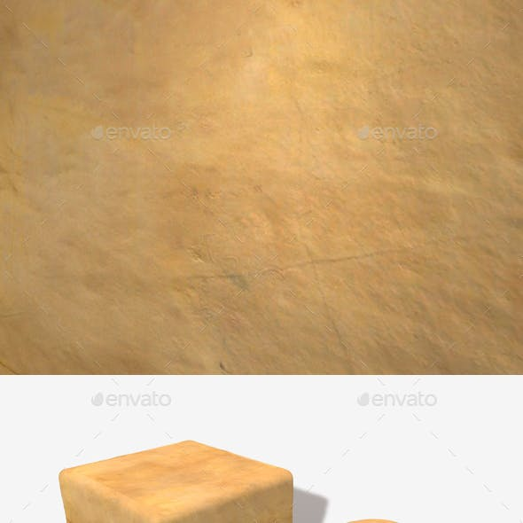 Yellow Cracked Clay Wall Seamless Texture