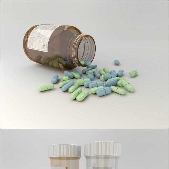 3D pills and capsules