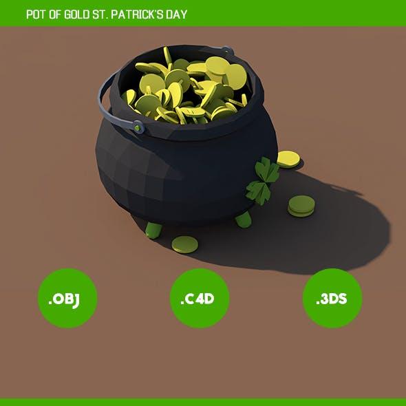 Pot of gold St. Patrick's Day