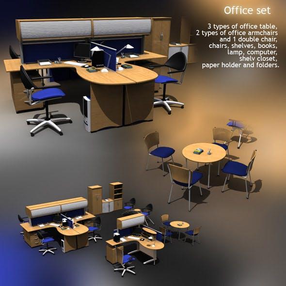 Office set 9 - 3DOcean Item for Sale