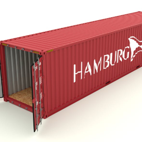 Shipping container Hamburg Sud