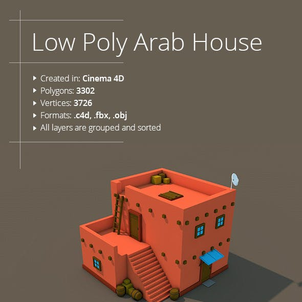 Low Poly Arab House