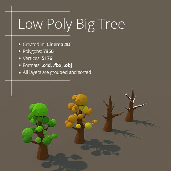 Low Poly Big Tree