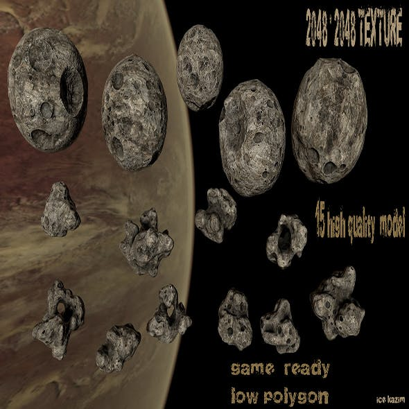 Asteroid_Set - 3DOcean Item for Sale