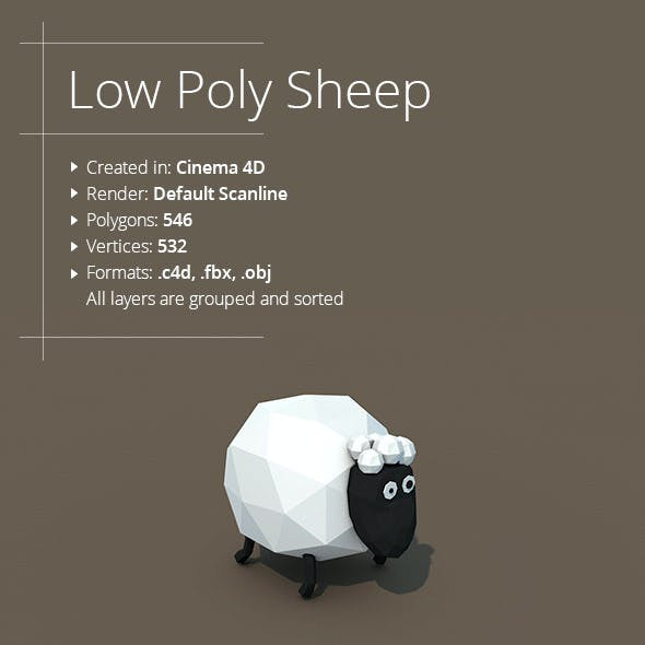 Low Poly Sheep