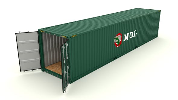 Shipping container MOL - 3DOcean Item for Sale