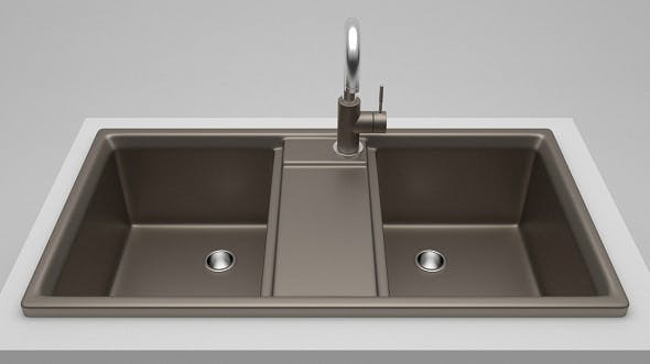 Kitchen sink with tap - 3DOcean Item for Sale