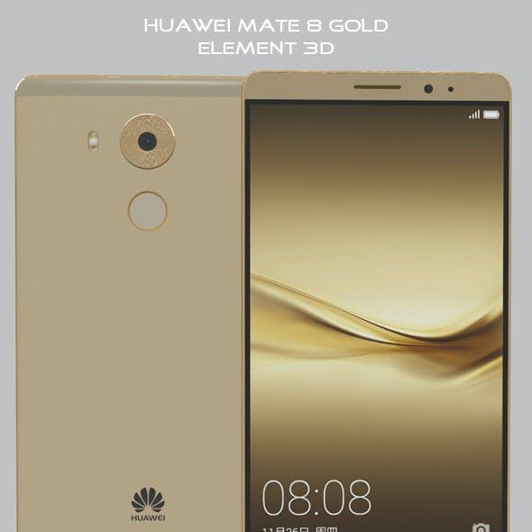 Element 3D Huawei Mate 8 Gold