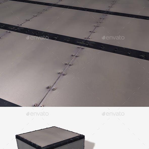 Riveted Metal Stripe Seamless Texture