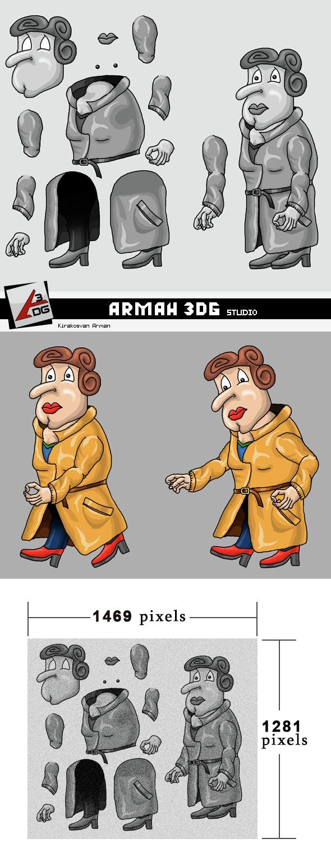 Detective Jil - 3DOcean Item for Sale