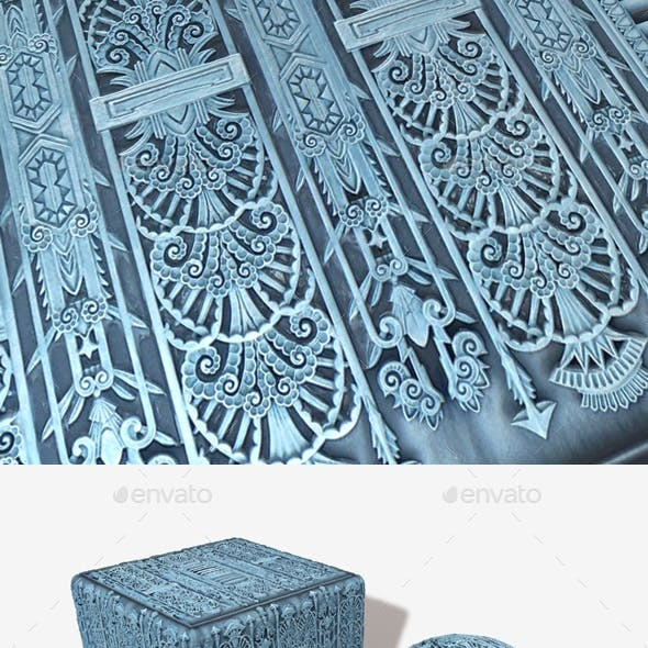 Art Deco Metalwork Seamless Texture