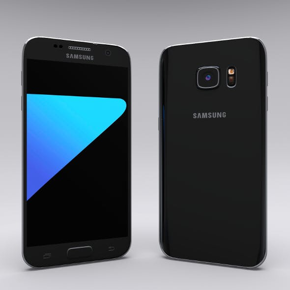 Samsung Galaxy S7 Black - 3DOcean Item for Sale