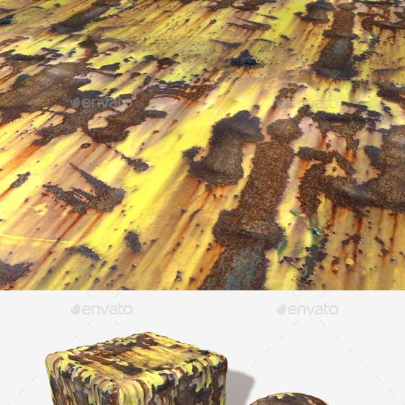 Rusty Yellow Metal Seamless Texture