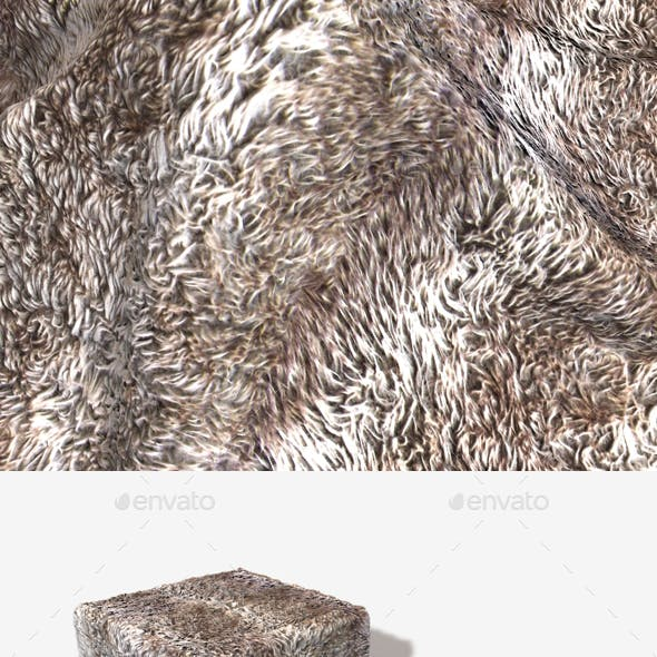 Striped Shaggy Fur Seamless Texture