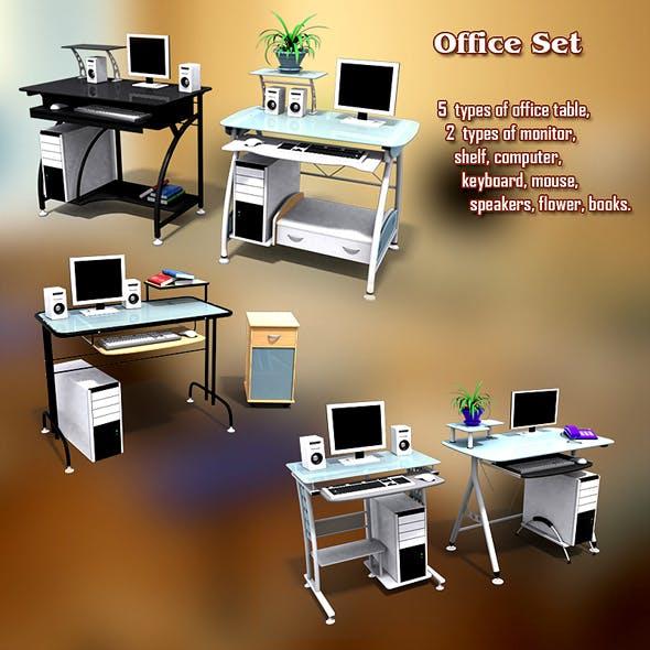 Office Set 13 - 3DOcean Item for Sale